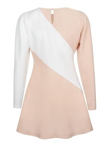 Nocturne Omuz Detaylı Mini Elbise Renkli